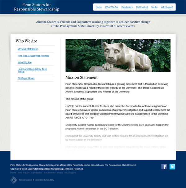 Penn State Responsible Stewardship group