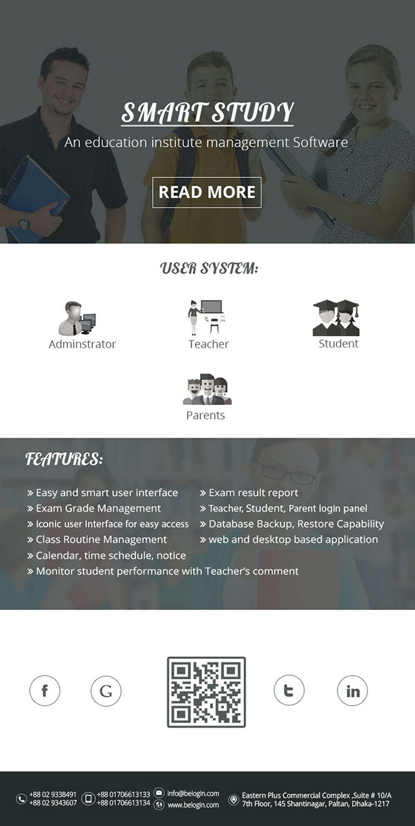school management software email template design on student show