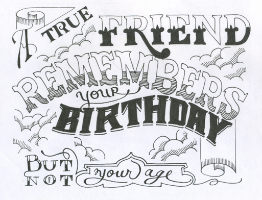 Bday cards that didnt make the cut on Behance – Birthday Card Drawing Ideas