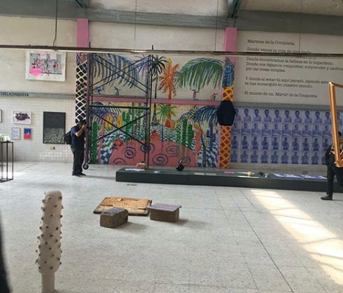Image may contain: graffiti, painting and art