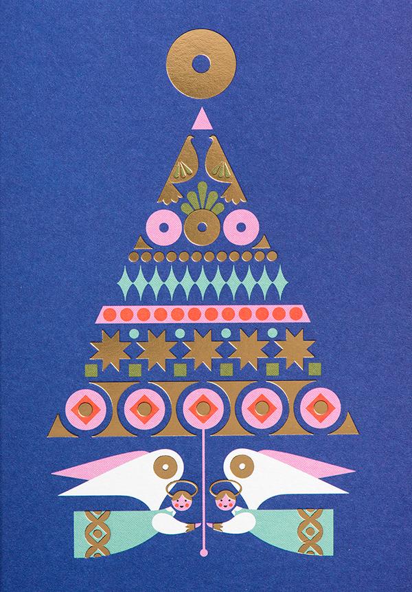 有創意感的27個聖誕卡片欣賞