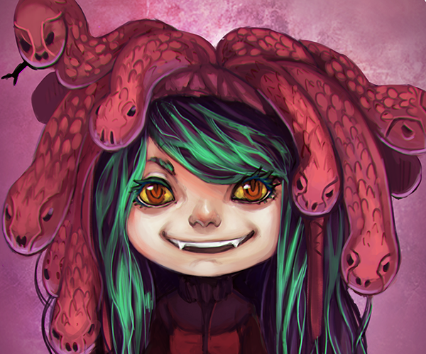 Medusa as Child by Alice Skalacka