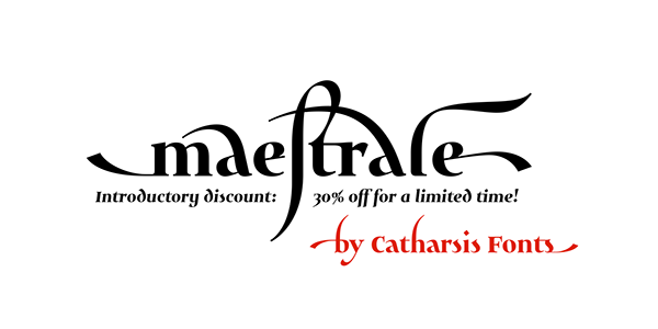 Maestrale — a unique calligraphic font family on