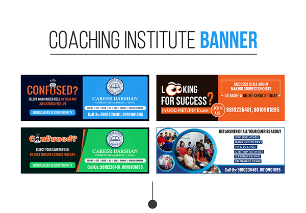 Digital Marketing Banner For Coaching Institute On Pantone Canvas Gallery
