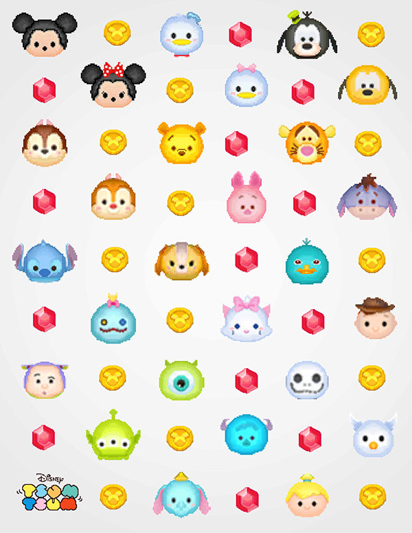 Disney Tsum Pixel Art On Adweek Talent Gallery