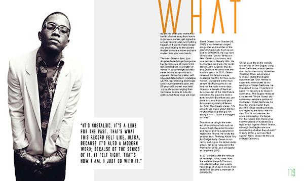 nylon magazine biography layout on behance