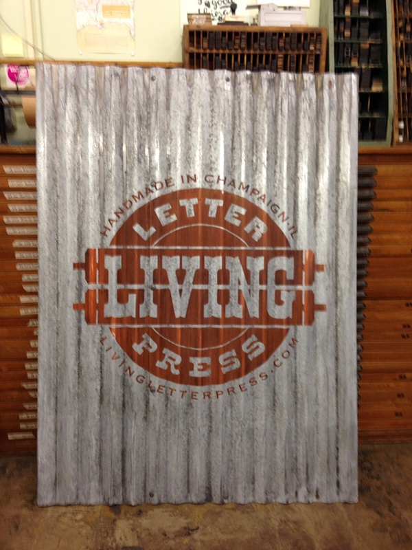 Corrugated Steel Letters Making A Vintagelooking Sign On Corrugated Siding On Behance