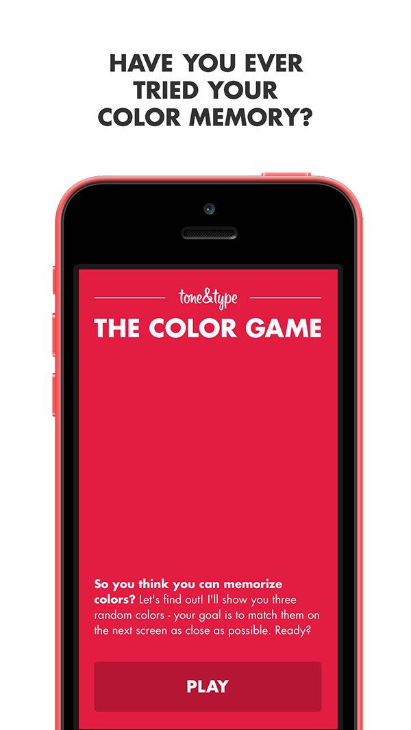 The Color Game on Behance