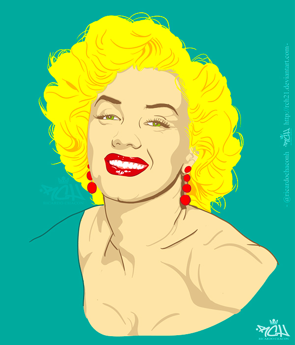 Marilyn Vector Art by Ricardo Chacon