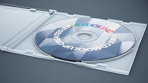 free cd mock up on behance