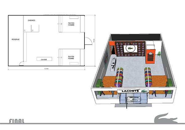 concept store lacoste on behance. Black Bedroom Furniture Sets. Home Design Ideas
