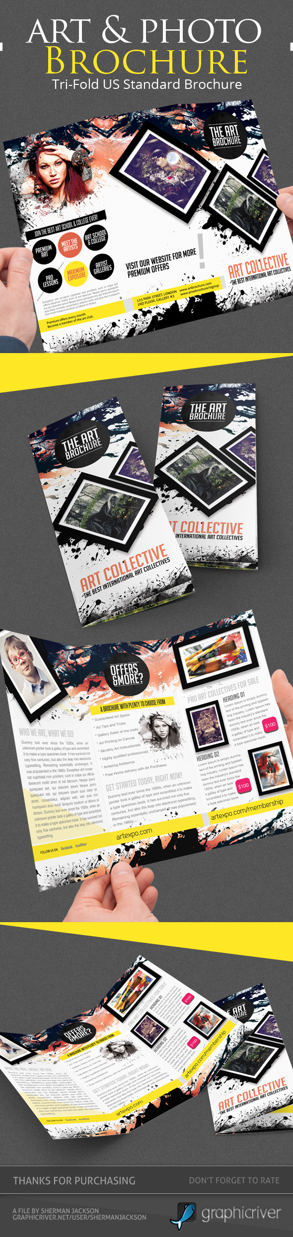 Art Photo Tri Fold Brochure Template On Behance