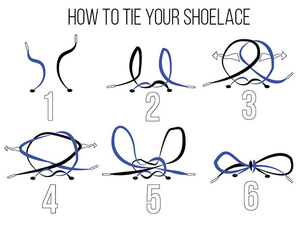 how to tie your shoelace on behance