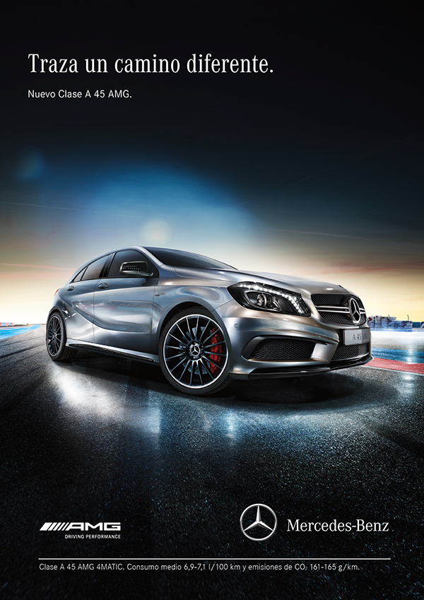 New slogan campaign for mercedes benz spain on behance for Mercedes benz slogan