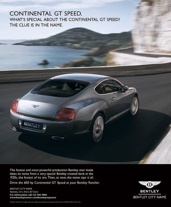 Bentley Cars Magazine Today Raiacars Com: Bentley Motors 2008-2009 Advertising Campaign On Behance