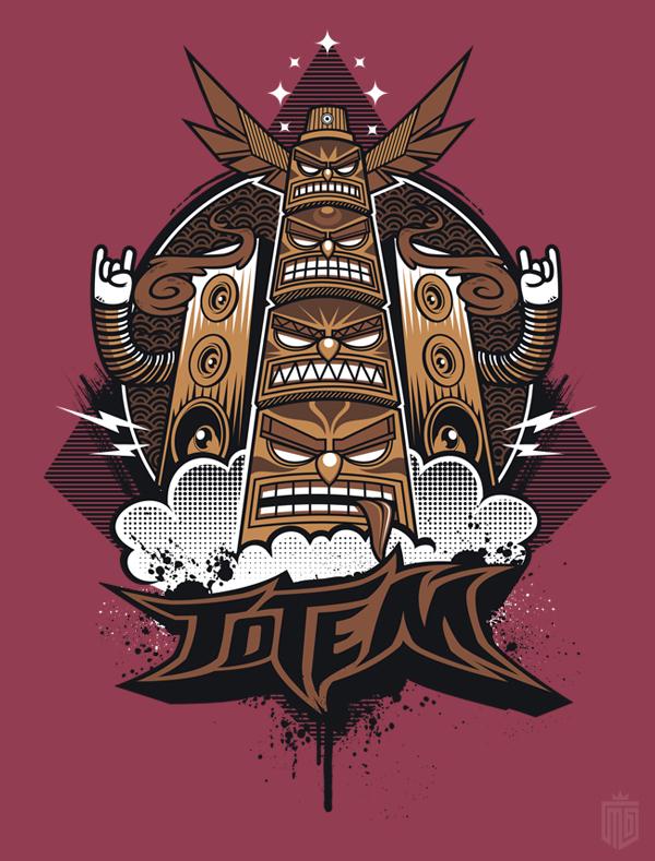 "T-Shirt Design ""Urban Totem"" on Behance"