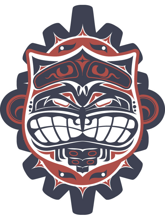 haida owl skull snake wolf vector hydro74 Native american culture