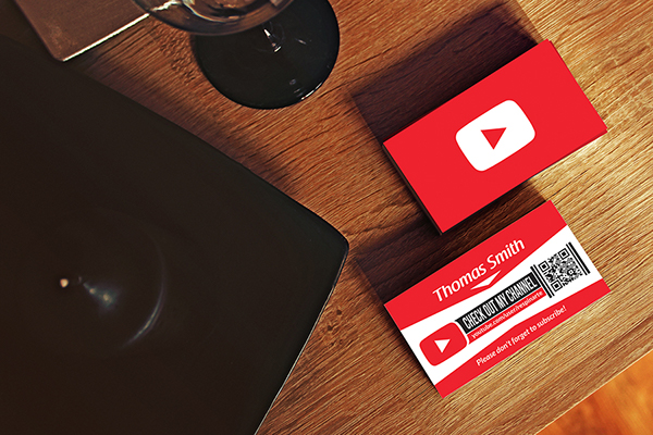 Free youtube business card template on behance reheart Image collections