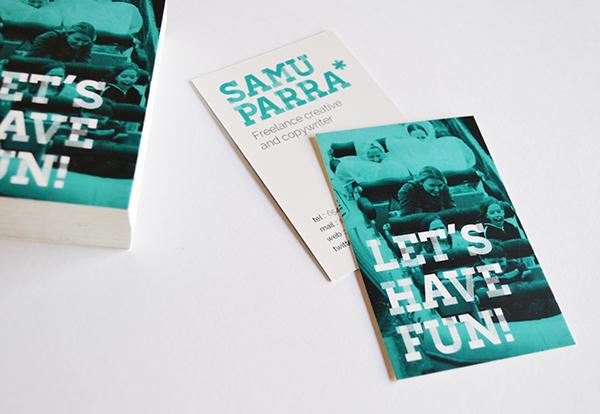 Samu Parra. Creativo y copywriter freelance