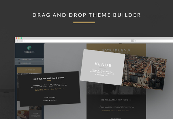 Wedding invitation email template builder access on behance introduction of responsive wedding invitation email template stopboris Image collections
