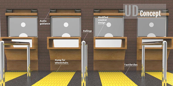 Railway Ticket Counter Design On Behance