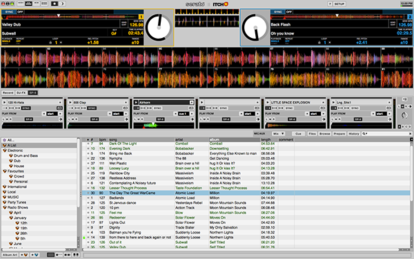 serato itch user interface on behance rh behance net Serato Itch Torrents DJ Serato Itch
