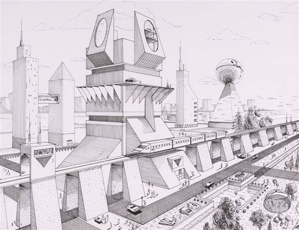 Pencil Architectural Illustration : Architectural illustration on behance