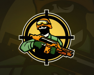 military army soldier gaming mascot logo design on behance