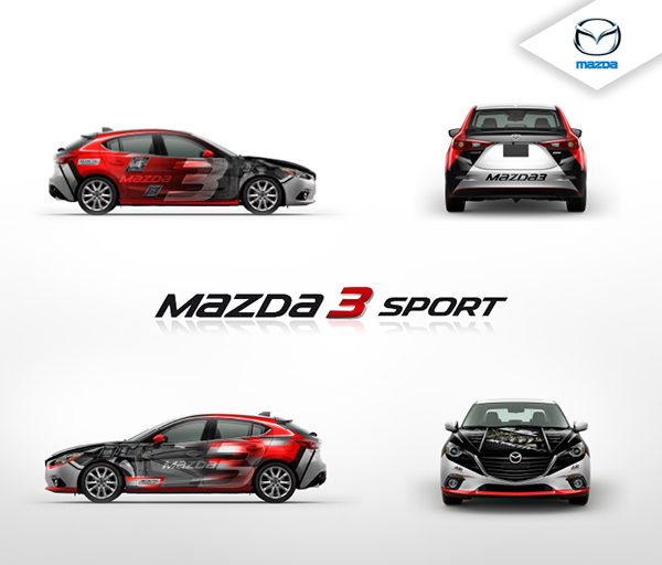 mazda3 car wrap on behance