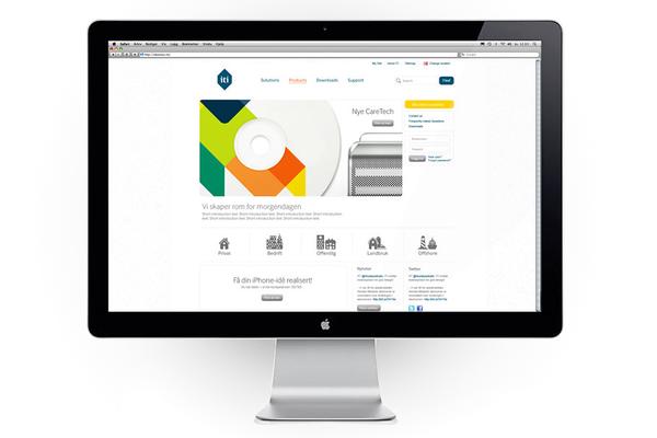 IT Technology colour color identity logo system