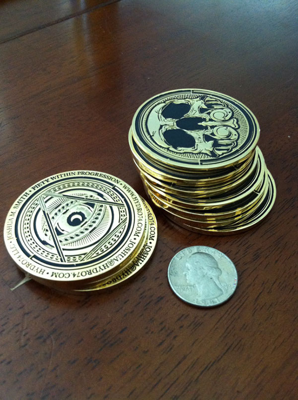 Hydro74 New Business Cards (coins) on Behance
