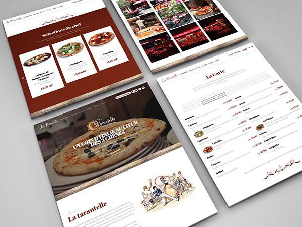 Responsive Web Design for La Tarantella Restaurant Geneve
