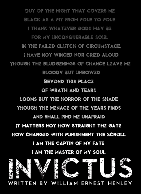 what is the poem invictus about