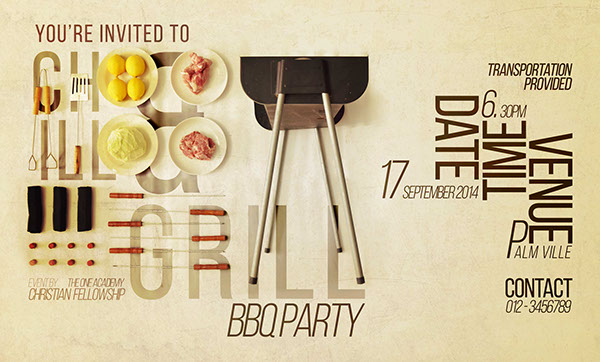 Bbq party invitation poster flyers on behance the first design for posters stopboris Gallery