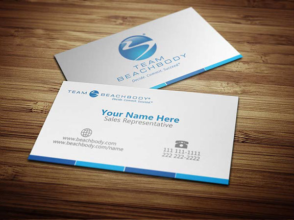 BeachBody Business Cards on Behance