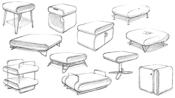 Modern Furniture Sketches furniture sketchbook 1 on behance
