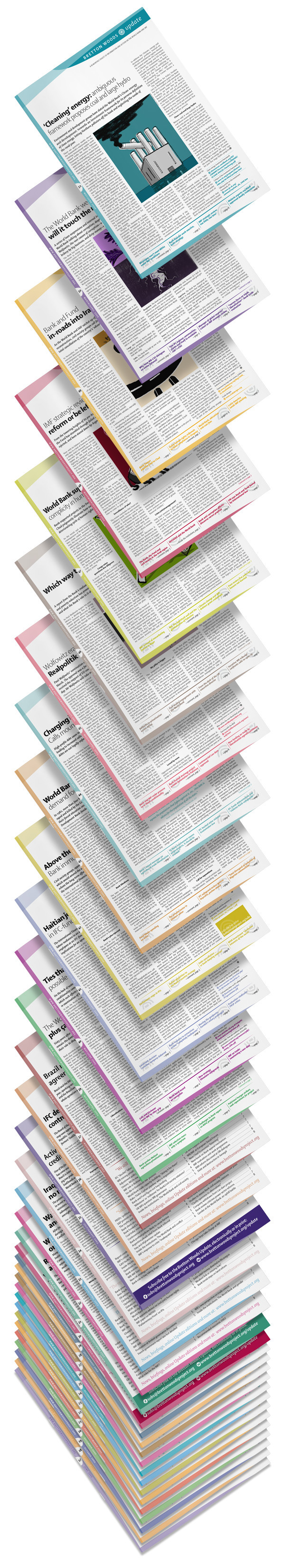 a4 newsletter editorial enigma shaker two-colour pantone