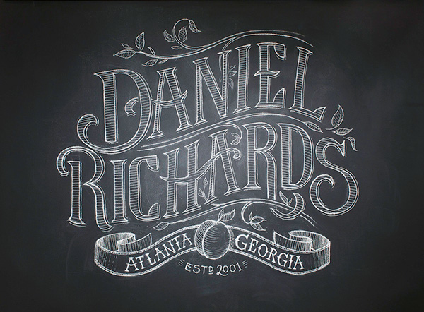 Daniel richards chalk lettering on behance Chalkboard typography