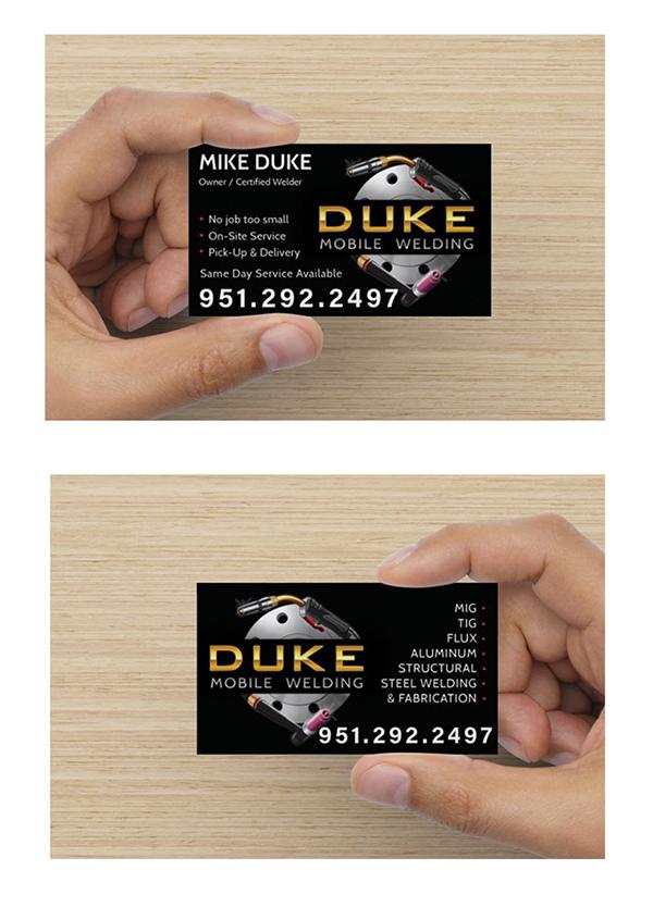 Logo Design & Business Card - Duke Mobile Welding on Student Show