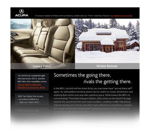 emails Cars Email Design Concepting conceptual