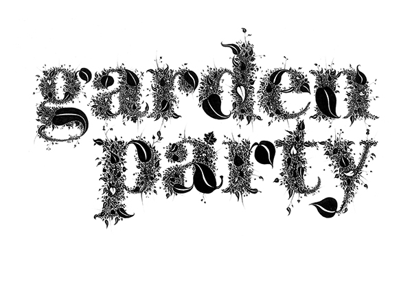 garden party graphic design exhibition logo on behance