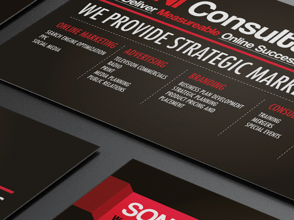 Soni consultants business card design on behance a business card design that retain it corporate colours in generating a set of bold visual typography on it business card colourmoves