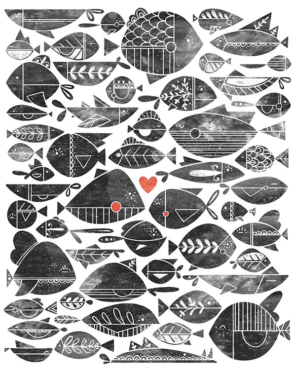 All the fish in the sea on behance for All the fish in the sea