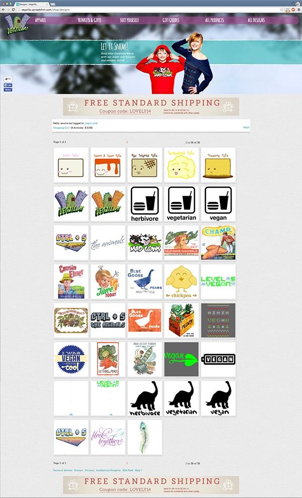 vegzilla,vegan,Vegetarian,Clothing,apparel,spreadshirt,Theme