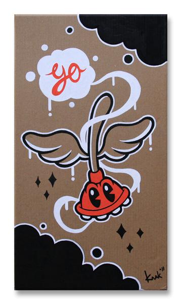 canvas Posca markers knak vincent van stek cartoon disney mickey goofy plunger art