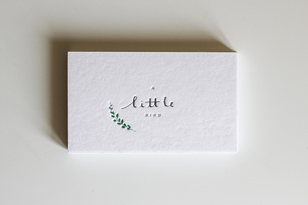 Branding and Identity Logo Design logo letterpressed embossed Business Cards