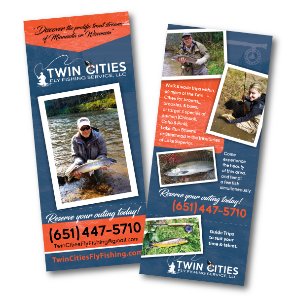 Twin cities fly fishing service llc on behance tear off business card flyer twin cities fly fishing service llc reheart Image collections