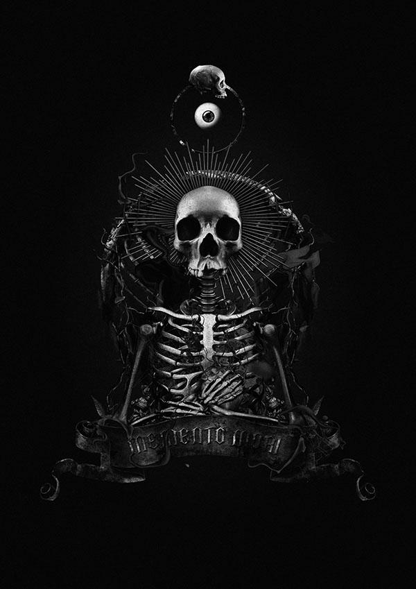 skull dark horror macabre gothic death memento mori fatkur rokhim svpermachine eye cult rose indonesia dark realm collective