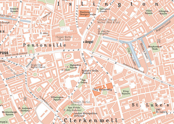 Map Centre London.Map Of Central London On Behance