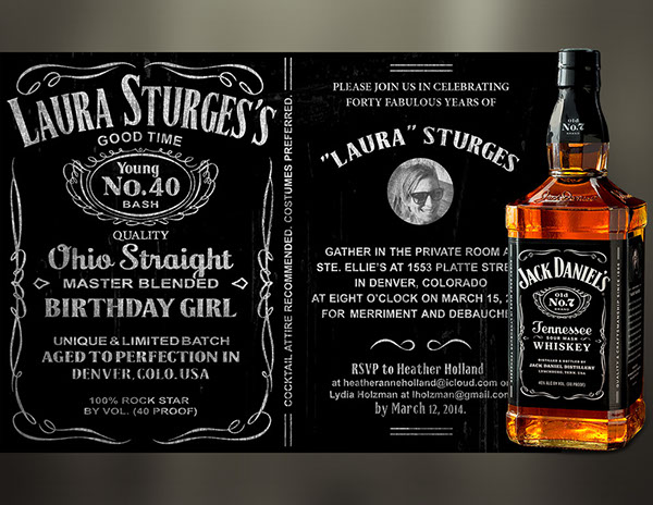 Whiskey Inspired 40th Birthday Bash Invitation On Behance